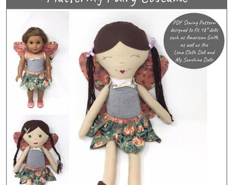 Pixie Faire My Sunshine Dolls Fluttering Fairy Costume Pattern for 18 Inch  and 21 Inch Dolls - PDF 71f07832f448
