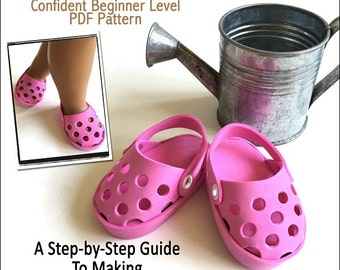 a5083179115a Pixie Faire Miche Designs No-Sew Foam Clogs Doll Shoe Pattern for 18 inch  American Girl Dolls - PDF
