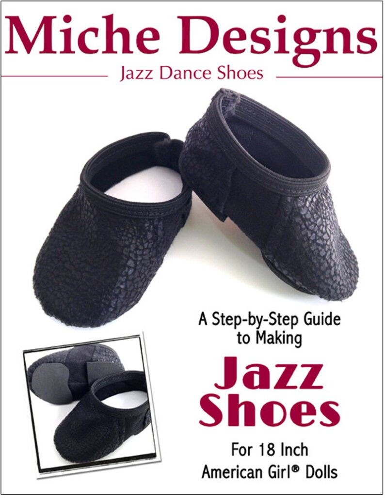 525b600a852a8 Pixie Faire Miche Designs Jazz Shoes Doll Clothes Shoe Pattern for 18 inch  American Girl Dolls - PDF