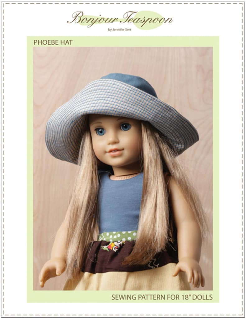 2d18fb54c4c Pixie Faire Bonjour Teaspoon Phoebe Hat Doll Clothes Pattern Designed to  Fit 18 Inch Dolls such as American Girl® - PDF