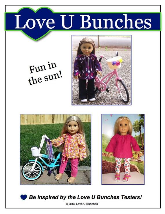 pixie faire love u bunches peasant blouse doll clothes pattern etsy