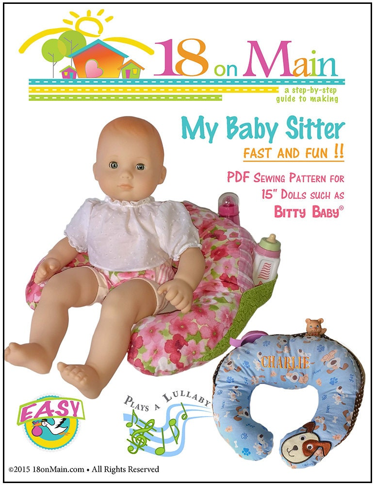 Pixie Faire 18 On Main My Baby Sitter Doll Clothes Pattern For
