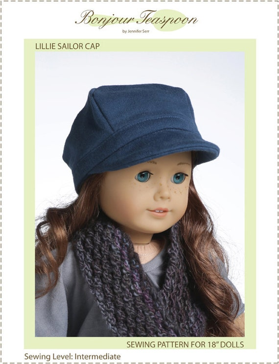 Pixie Faire Bonjour Teaspoon Lillie Sailor Cap Doll Clothes Pattern