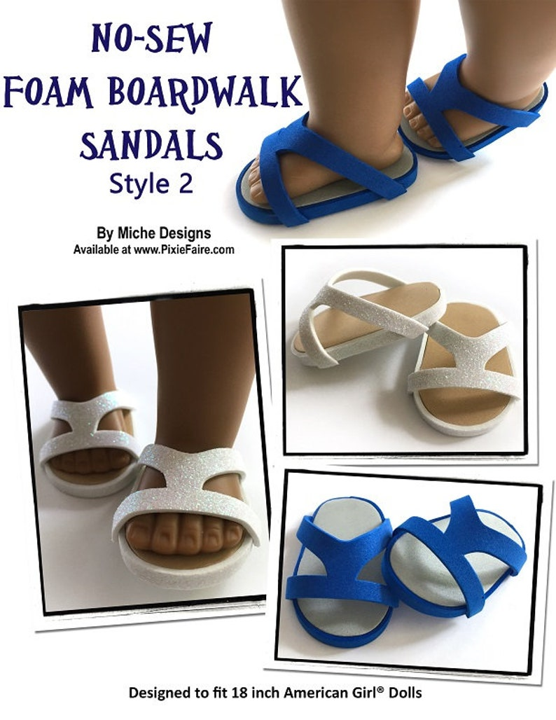 53335eee4 Pixie Faire Miche Designs No-Sew Foam Boardwalk Sandals 3 Pack