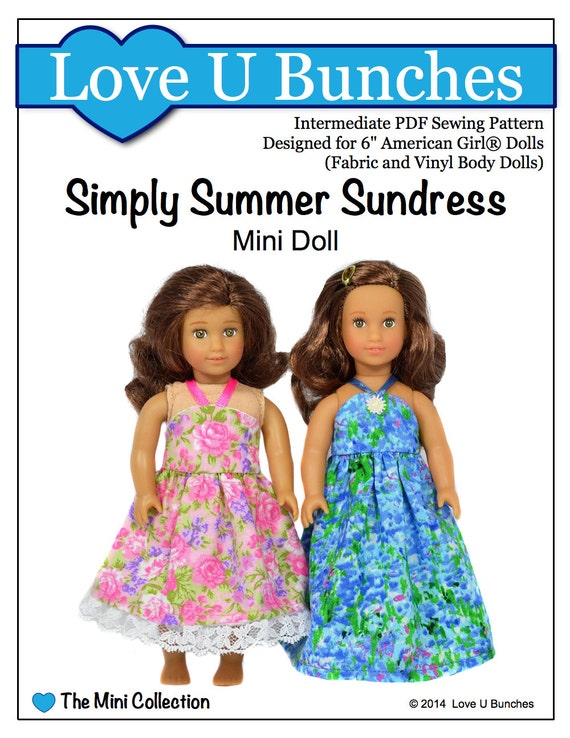 pixie faire love u bunches simply summer sundress for 6 inch etsy