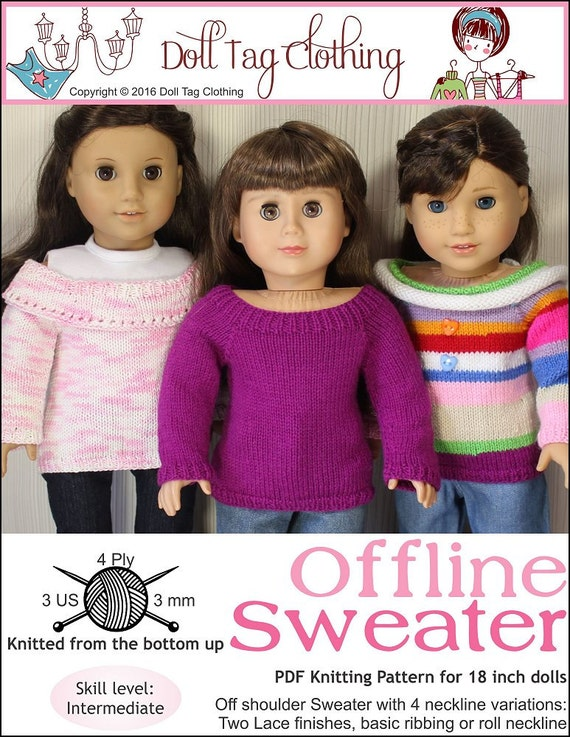 Pixie Faire Doll Tag Clothing Offline Sweater Doll Clothes Etsy