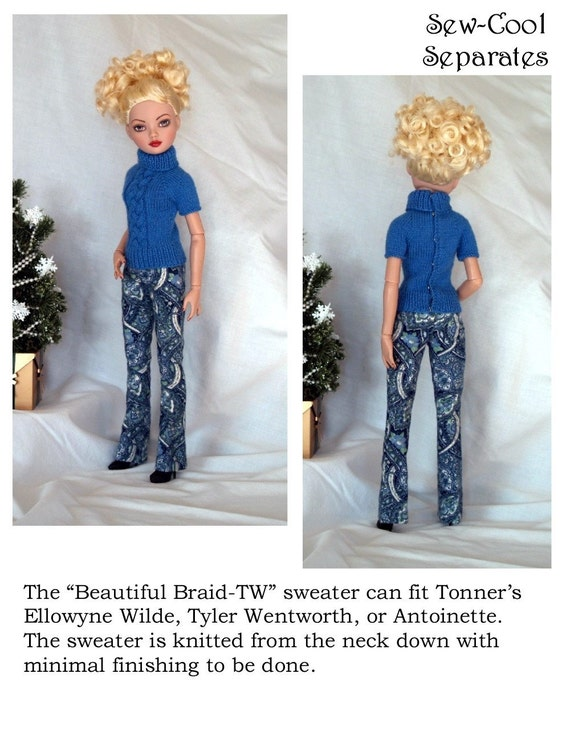 Pixie Faire Sew Cool Separates Beautiful Braid Doll Clothes | Etsy