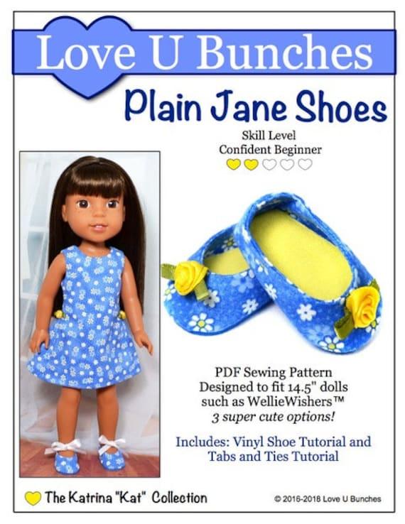 pixie faire love u bunches plain jane shoes doll clothes etsy