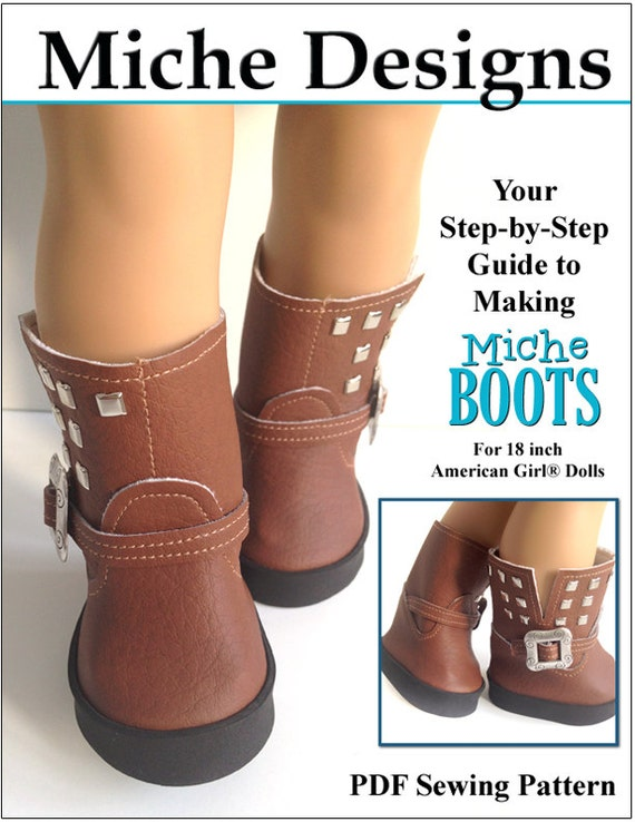 1837371b56729 Pixie Faire Miche Designs Miche Boots Doll Clothes Shoe Pattern for 18 inch  American Girl Dolls - PDF