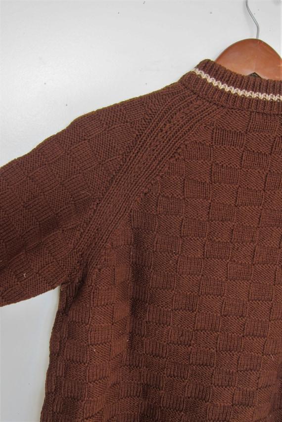 1940s Sweater   40s Mens Handknit Sweater   40s W… - image 5