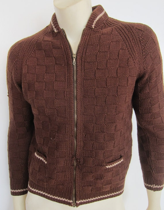 1940s Sweater   40s Mens Handknit Sweater   40s W… - image 2