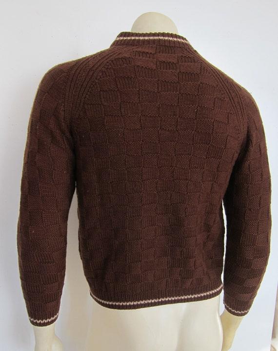 1940s Sweater   40s Mens Handknit Sweater   40s W… - image 3