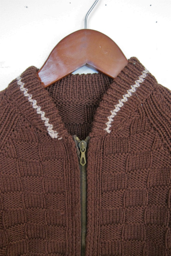 1940s Sweater   40s Mens Handknit Sweater   40s W… - image 4