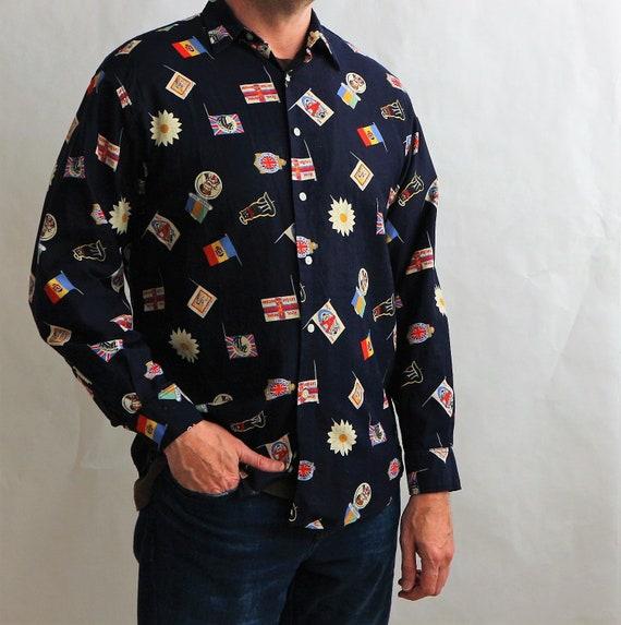Vintage Paul Smith Mens Shirt | Vintage 90s Mens N