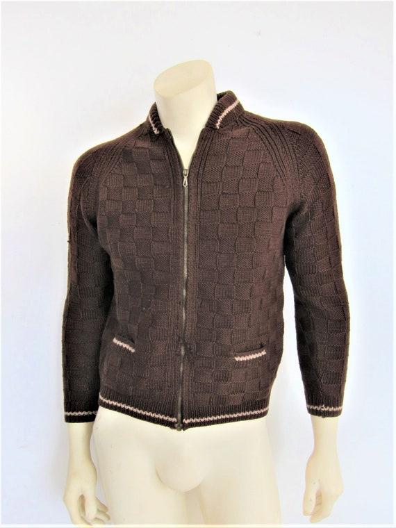 1940s Sweater   40s Mens Handknit Sweater   40s W… - image 1