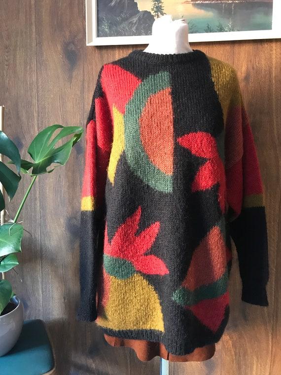 Vintage Mohair Jumper 70s 80s 90s knitwear