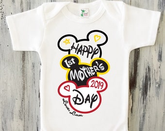 5cfb9d688 First mothers day onesie