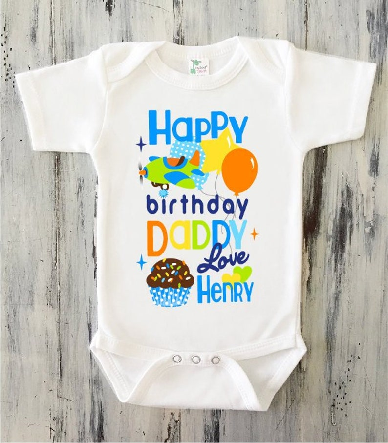 BABY BOY Happy Birthday DADDY Onesie Personalized Dad
