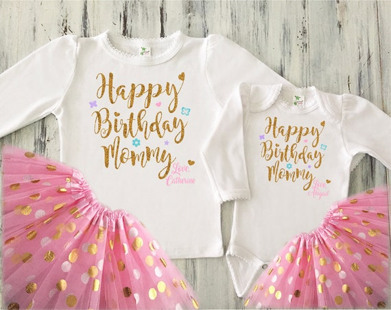 d6fefe443 Happy Birthday Mommy Outfits Girl Matching Big Sister Little | Etsy