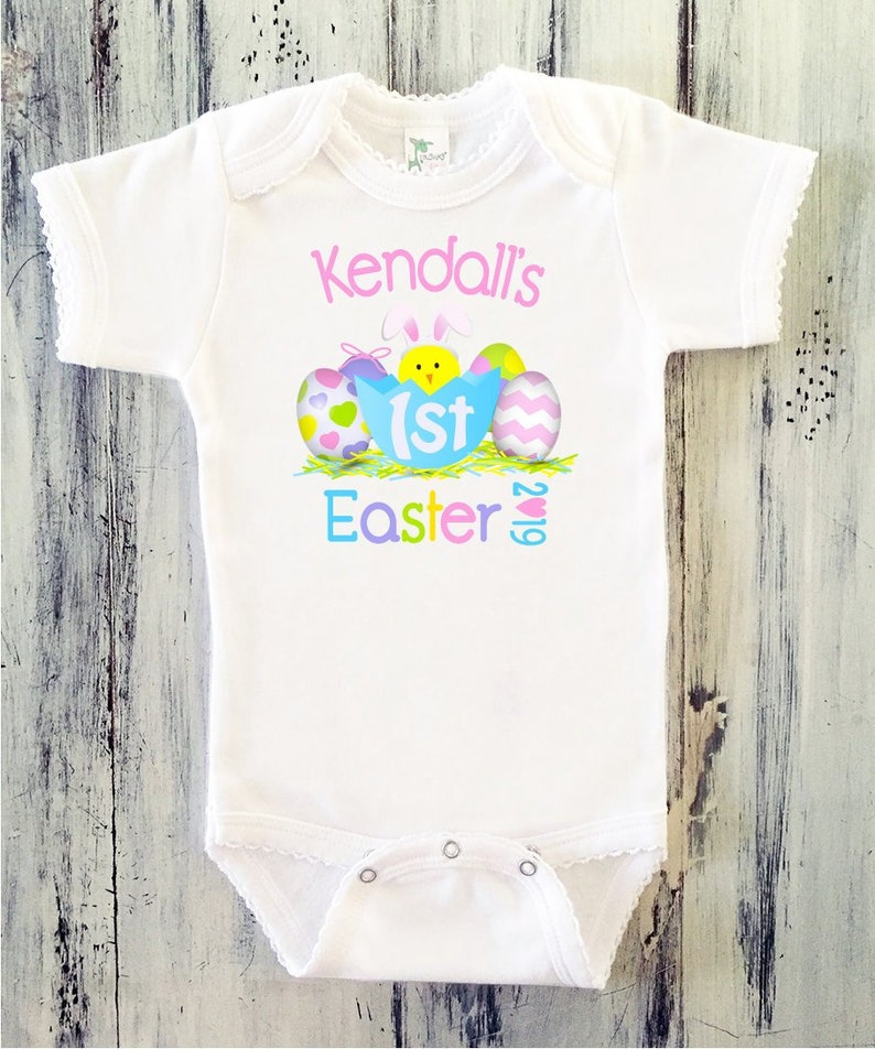 b8532d35802a Baby Girl My First EASTER Onesie Newborn Girl 1st Easter | Etsy
