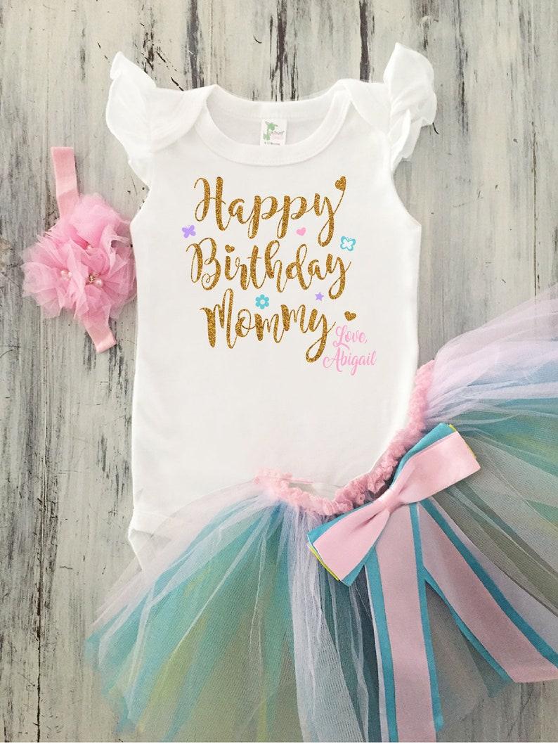 2e7ed3207 Baby Girl Happy Birthday Mommy Outfit Girl Happy Birthday | Etsy