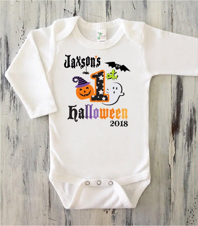 Baby Boy My First HALLOWEEN Onesie Babyu0027s First Halloween Onesie Baby Boy  1st Halloween Shirt Personalized Baby Boy Halloween Onesie