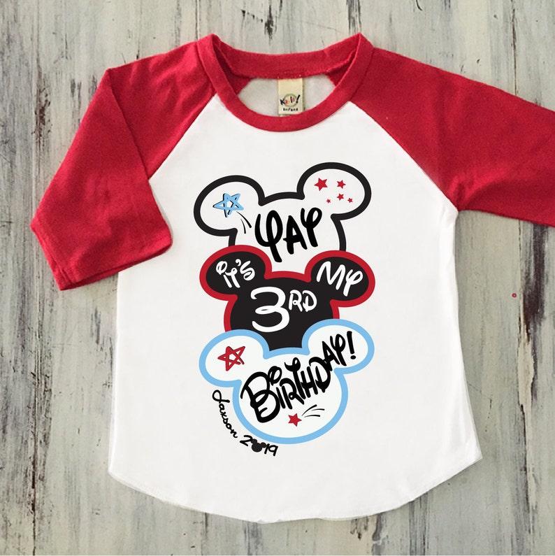 Boys Mickey Mouse Birthday Shirt Ears