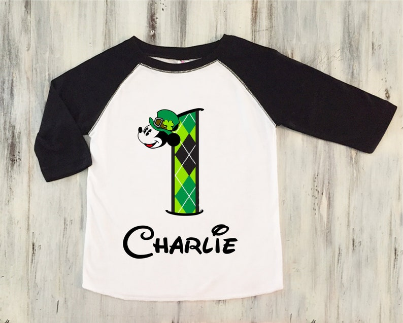 1f616d906 St Patricks Day First Birthday Shirt Mickey Mouse St Patricks | Etsy