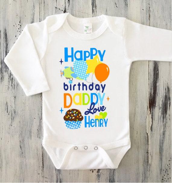 BABY BOY Happy Birthday DADDY Onesie Personalized Dad