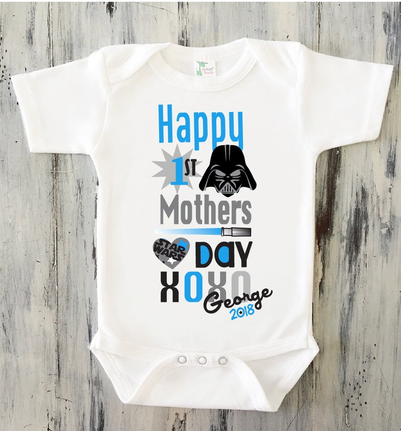 af274f38e Baby Boy Star Wars Mothers Day Onesie Baby Boy Personalized | Etsy