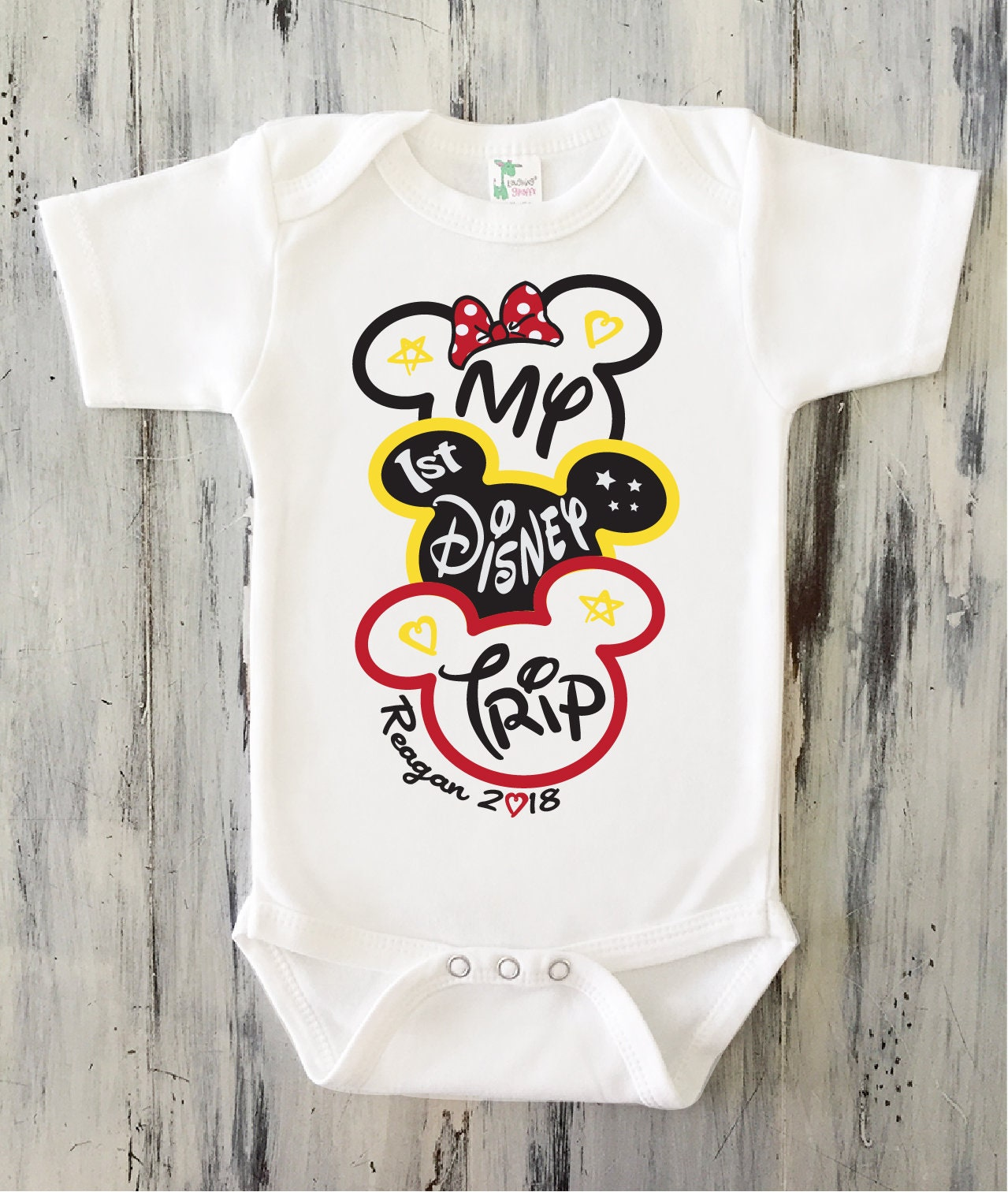 Girl Baby/'s First Disney Trip Bodysuit or T-Shirt