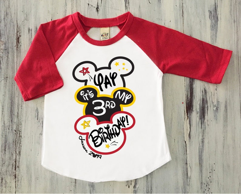 Boys Mickey Mouse Birthday Shirt Ears