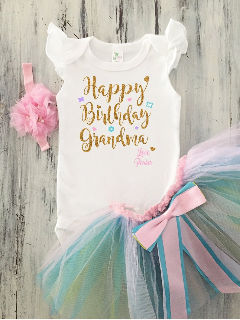 Baby Girl Happy Birthday Grandma Outfit Toddler
