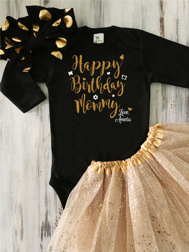 b19be455a Baby Girl Happy Birthday Mommy Outfit Baby Girl Happy | Etsy