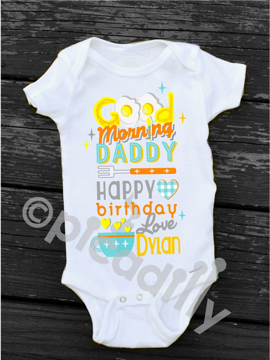 Happy Birthday Daddy OnesieR Personalized Dad Gift Good