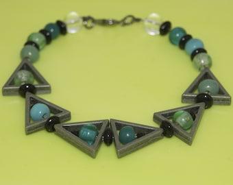 Turquoise Triangle Bracelet
