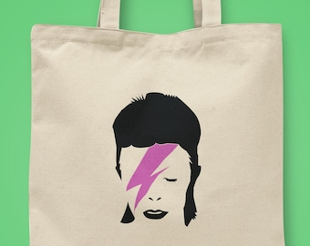 David Bowie iconic tote bags