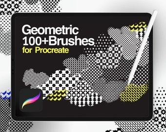 PROMO: 160+ Geometric brush for Procreate