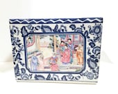 Chinese Porcelain Rectangular Cache Pot Planter Great Qing Qianlong Nia Zhi Period Apocryphal Mark Hand Painted