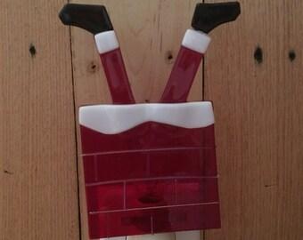 Clumsy Santa Fused Glass Nightlight