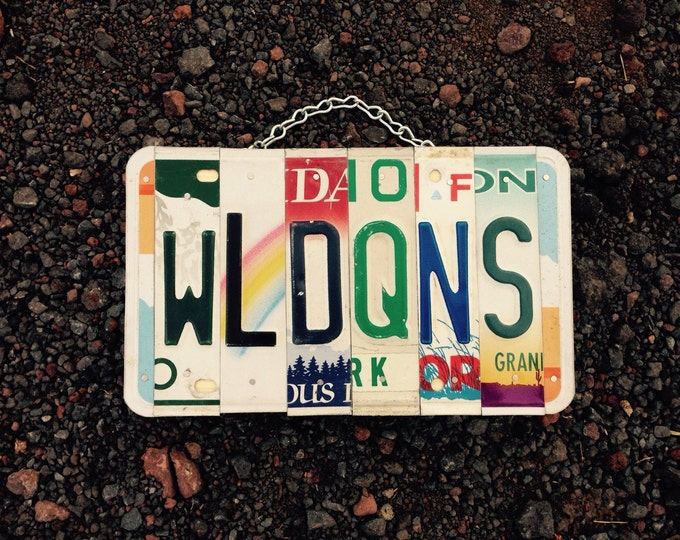 Wild queens. License plate sign. Rollerderby. Name. Personalized. License plate. Art. Sign. Room decor.