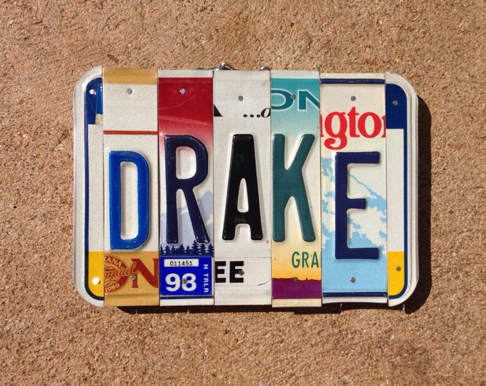License plate sign. Boys name. License plate art. Christmas. Gift idea. Boys room .