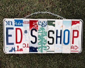 Dad. Fathers day. For him. Christmas. Shop. Garage. Sign. License plate.