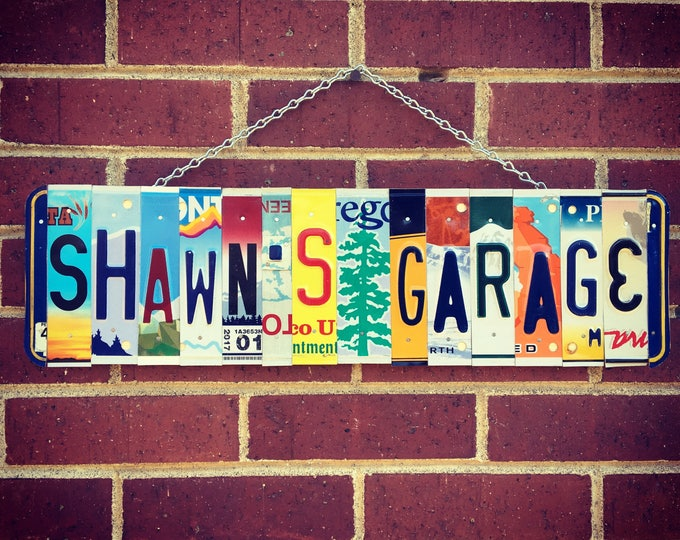 Mechanics Gift - License Plate Sign - Mens Birthday Gift - Mancave Decor - Retirement Gift - Fathers Day Gift.