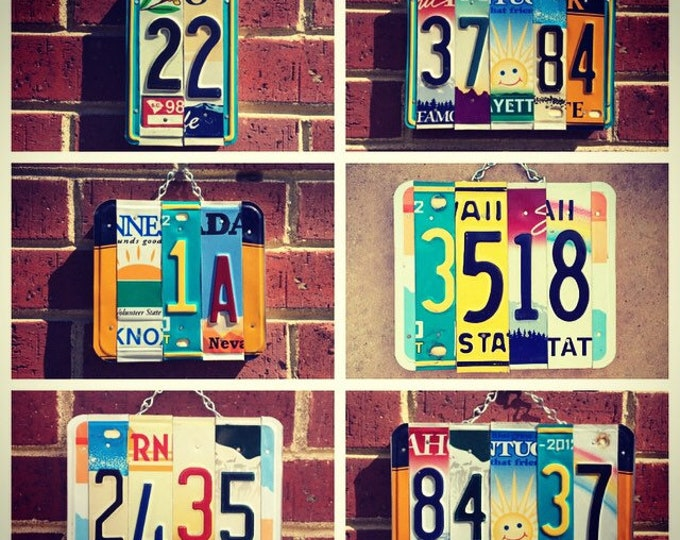 House Number Sign. Personalized House Number Plaque. License plate numbers. House Sign. Outdoor Sign. Address Plaque. House Warming Gift.