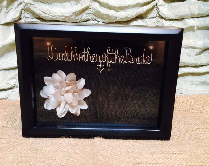 God mother. Mother of the bride. Wedding. Wedding gift . Love. Heart.