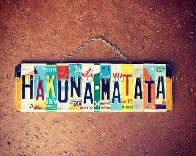 Lion King Themed License Plate Sign, Hakuna Matata License Plate Sign, Kids Nursery Decor, Lion King Birthday, Baby Shower, Gift for Kid