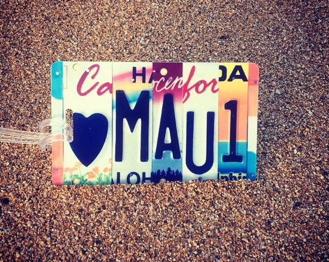 Luggage Tag - Travel Gift - License Plate Luggage Tag - Made in Hawaii - Beach themed - Gift for Traveler - Hawaii Souvenir - Aloha