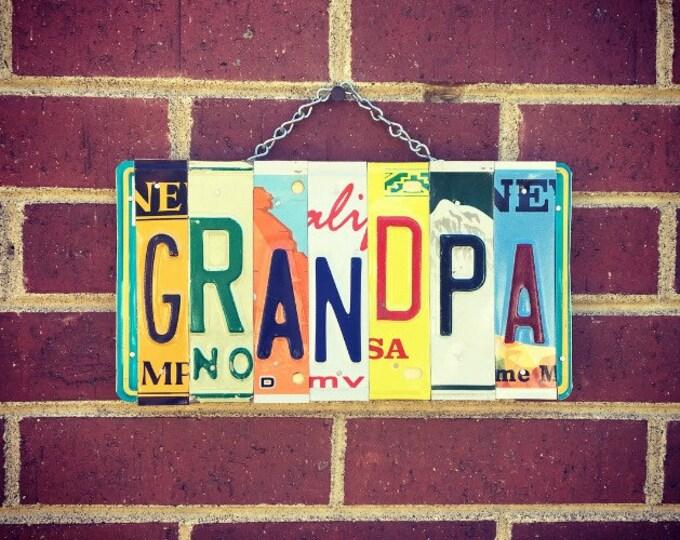 Christmas Gift for Grandpa, Grandpa Sign, Gifts for Grandpa, License Plate Sign, Gift for Him, For Grandpa.