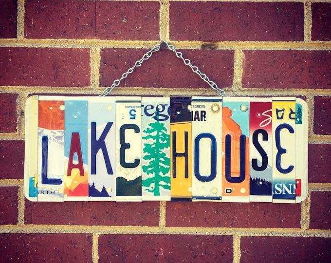 Lake House Sign, Lake House Decor, Lake House Gift, Lake House  Housewarming Gift, Gift for Lake House, Cabin Decor, License Plate Sign.